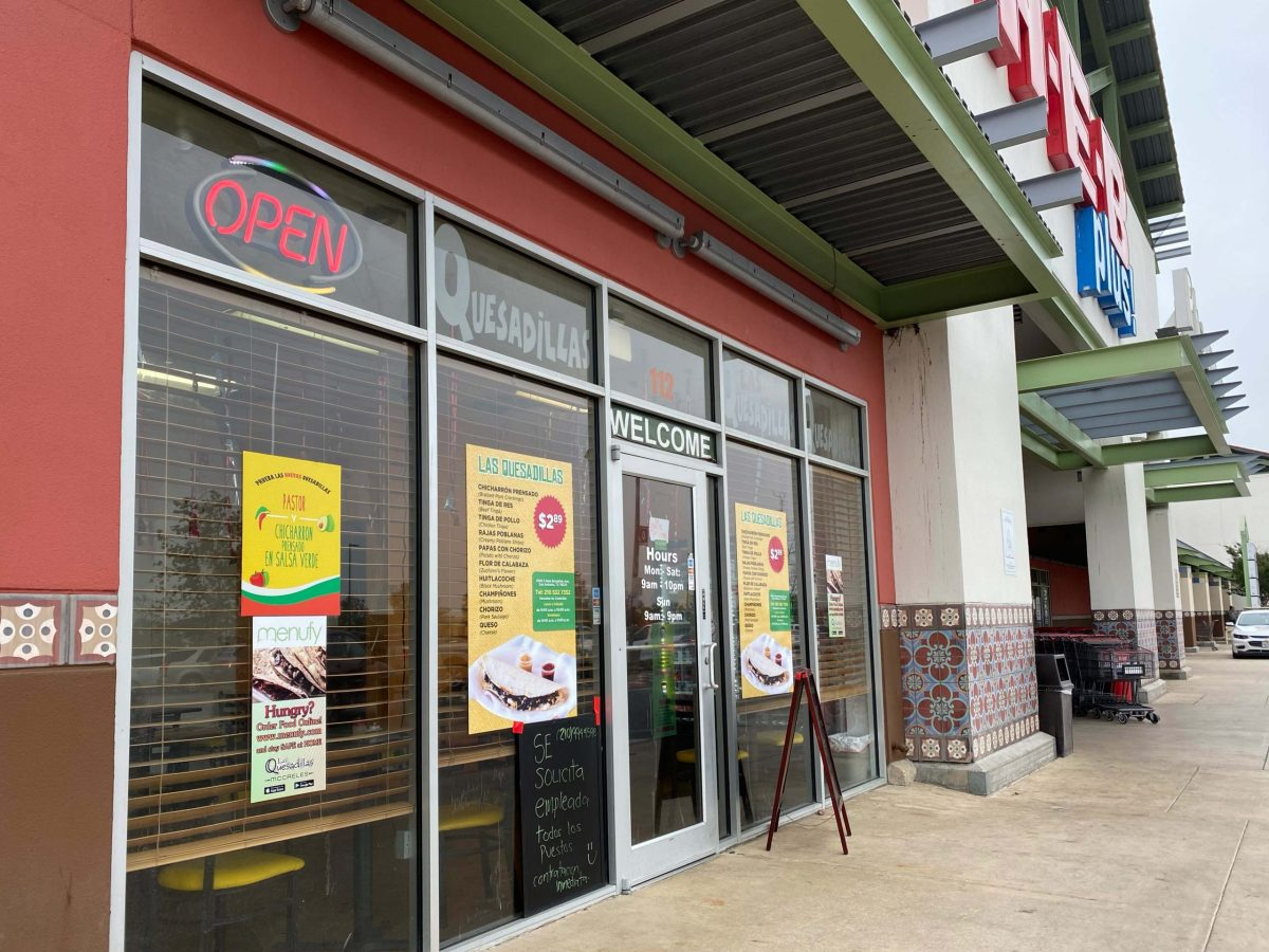Las Quesadillas is located outside of the HEB on S New Braunfels Avenue.