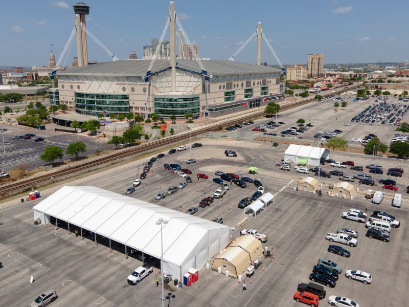 COVID-19 shots are offered at the Alamodome from 9 a.m. to 6:30 p.m. Tuesdays through Saturdays.