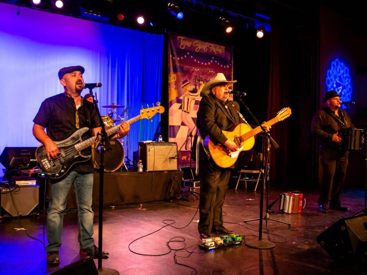 Los Texmaniacs perform during their live recording for the virtual Tejano Conjunto Festival.