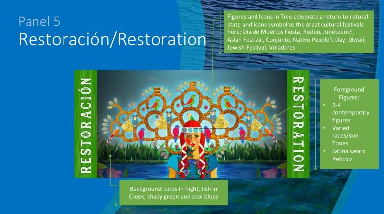Panel 5 - Restoración / Restoration