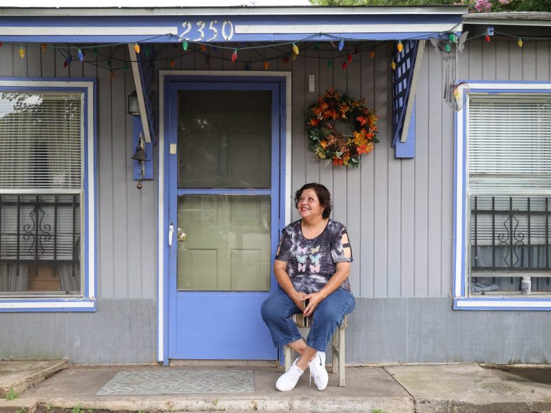 Baca reflects on her childhood memories growing up in her mother's home, which is only a few paces from her house.