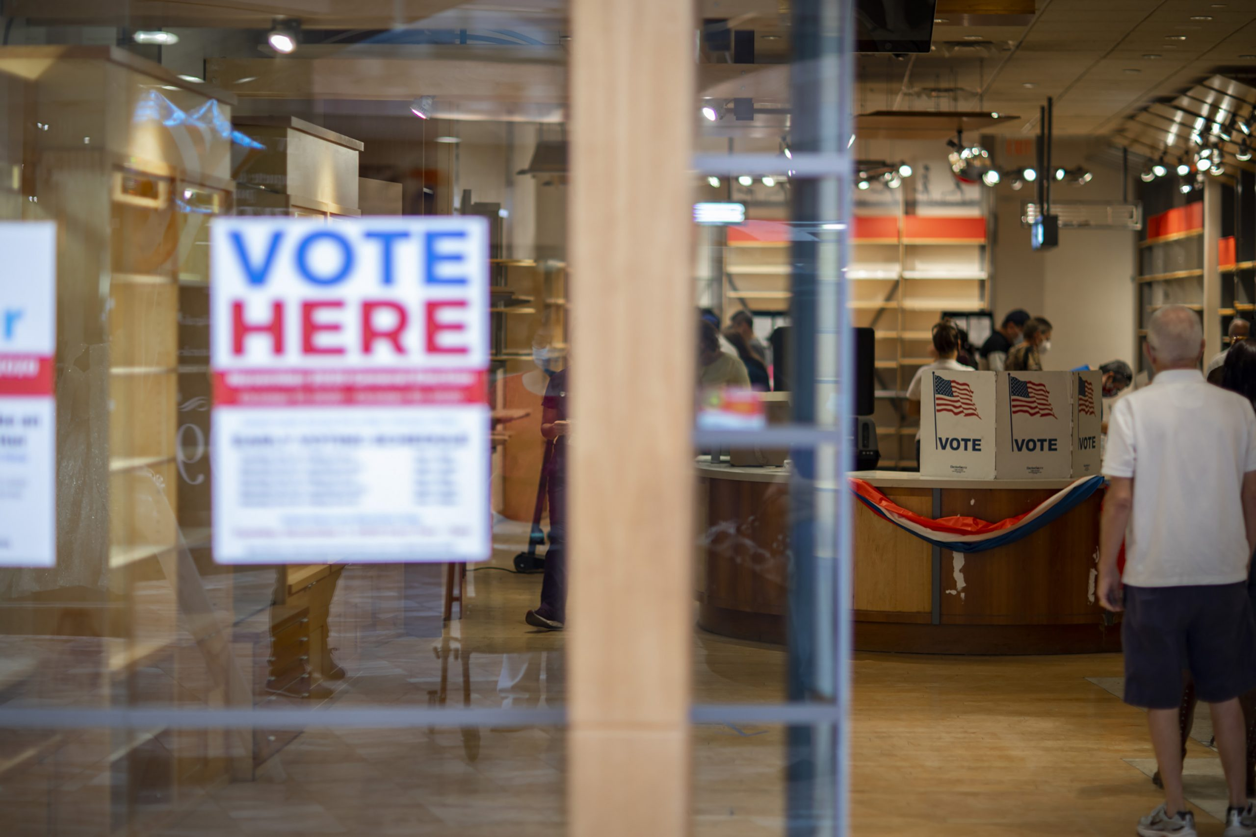 Day one of early voting in El Paso at the Sunland Park Mall indoor voting site on Oct. 13, 2020.