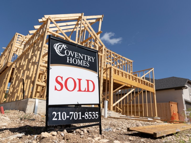 A home that has been sold undergoes construction in the Stillwater Ranch neighborhood on the far West Side.