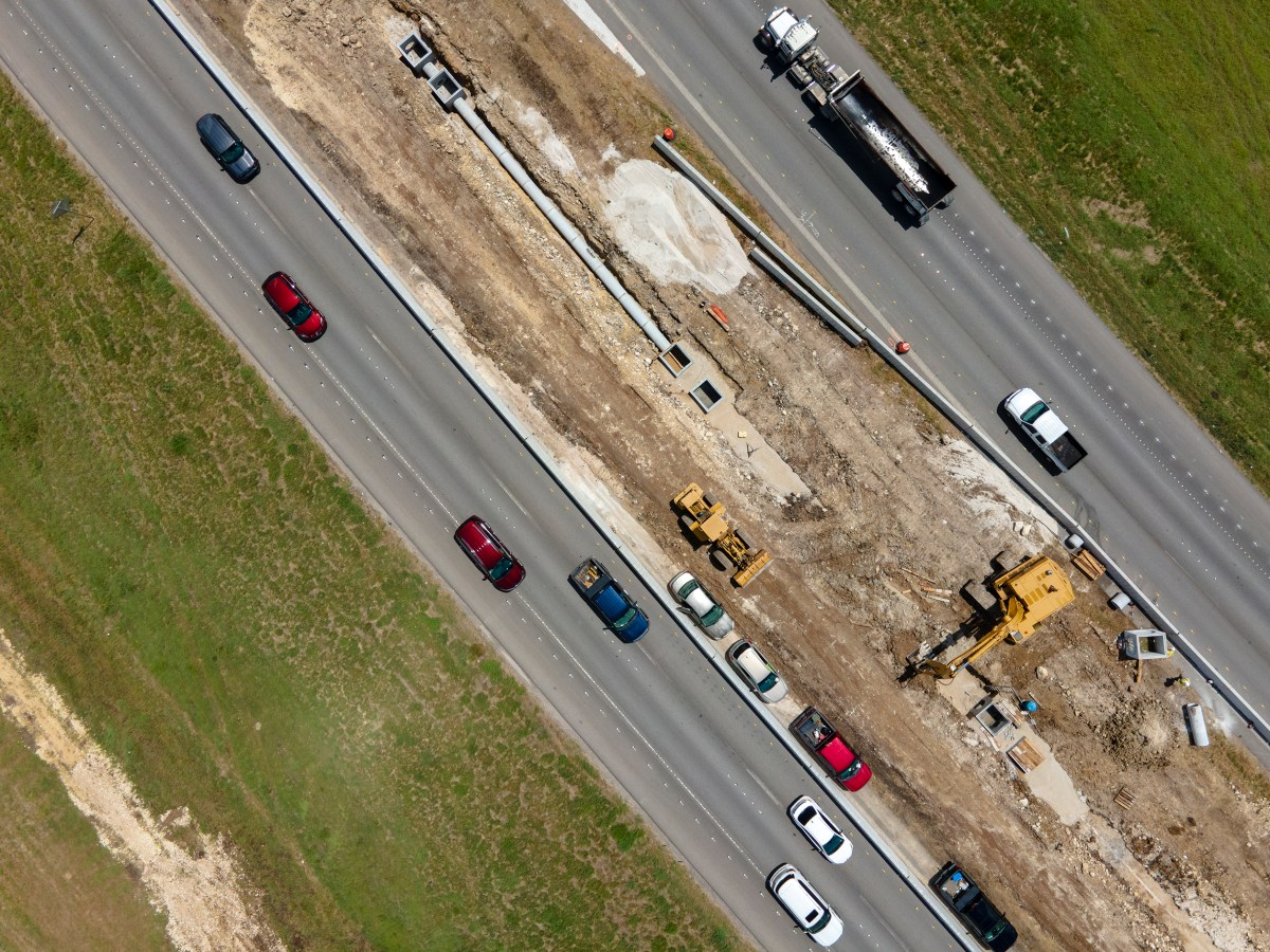 Traffic flows along Loop 1604 as construction begins on the first segment of TxDOT's expansion project.