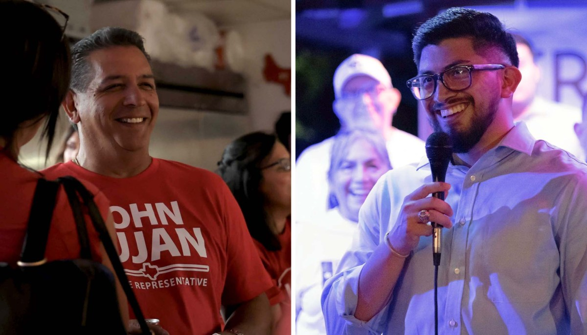 Texas House District 118 candidates John Lujan, left, and Frank Ramirez will face in a runoff for the special election of Texas House District 118.