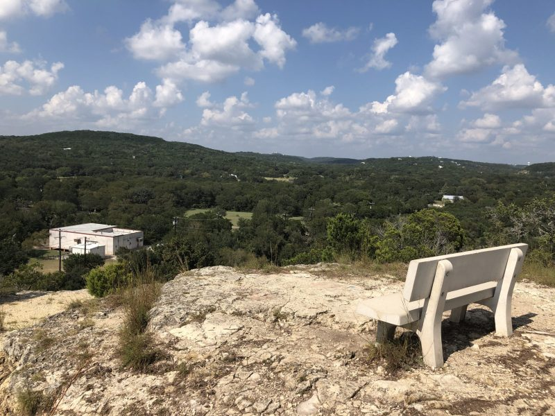 A view of Helotes Canyon from a hilltop at Madla Natural Area.