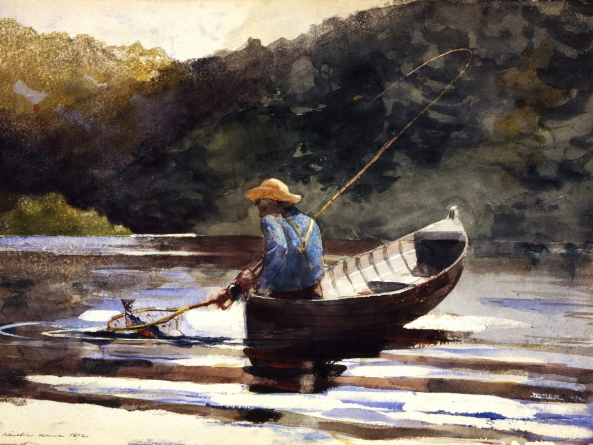 Boy Fishing, Winslow Homer, 1892. This piece and 39 others are featured in the 40 Years, 40 Stories: Treasures and New Discoveries from SAMA's Collection exhibition.