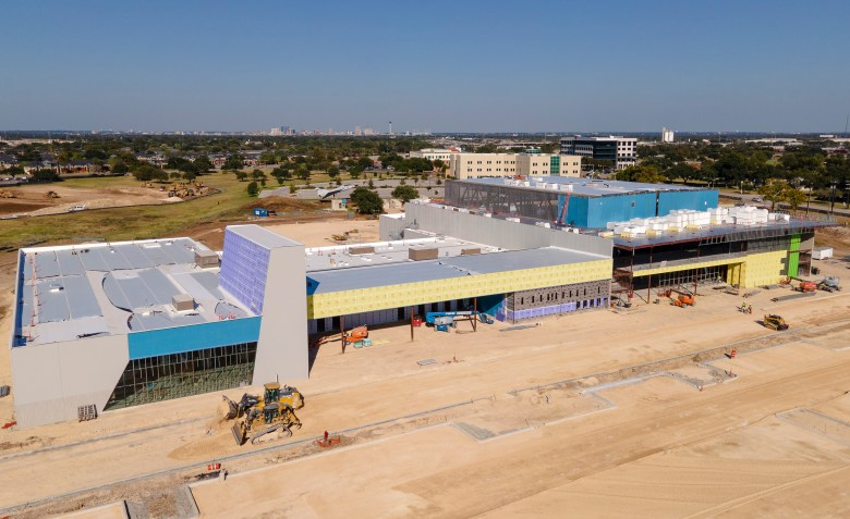 Construction continues on the Innovation Center at Port SA on Thursday.