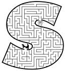 An image of the letter s, which is made into a maze.