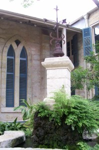 Photo of the Ruth Roby Johnson fountain at the Southwest School of Art & Craft