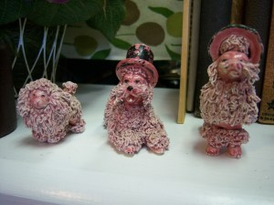 Photo of ceramic pink poodle family for $8.99 at Endless Possibilities.