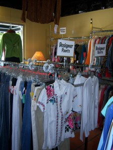 Photo of the interior of Otra Vez Couture Consignment, 134 W. Olmos.