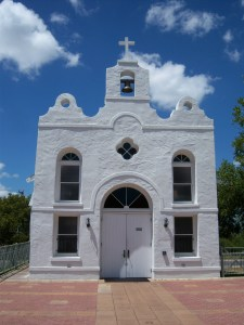 Photo of the original 1927 Cementville chapel of St. Anthony de Padua, San Antonio, Texas.