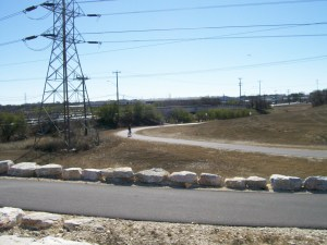 Photo of Salado Creek Greenway trail on airport property.