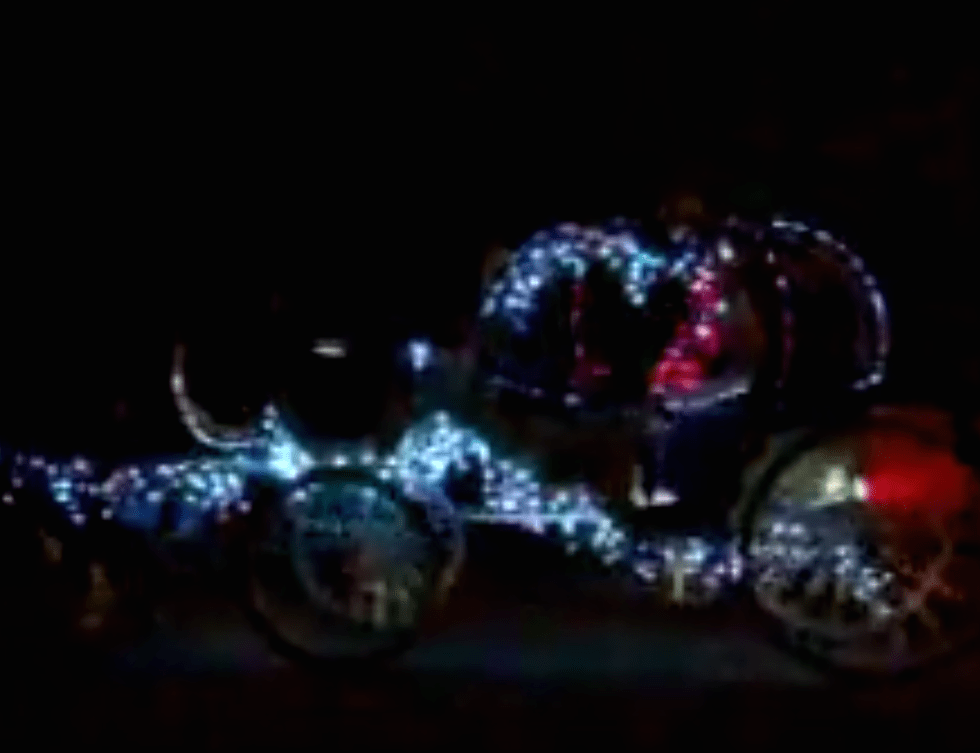 Photo of illuminated carriage ride in downtown San Antonio.