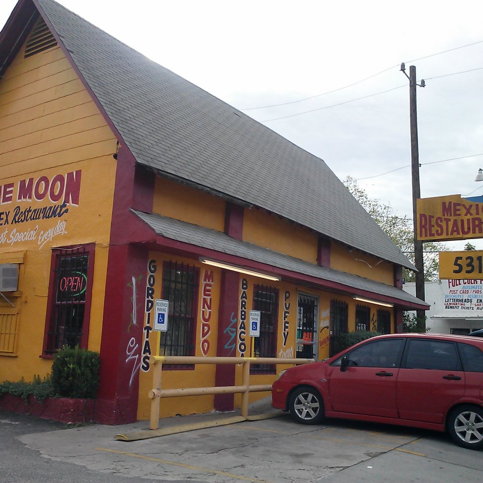 A photo of Blue Moon Mexican Restaurant in San Antonio, Texas.