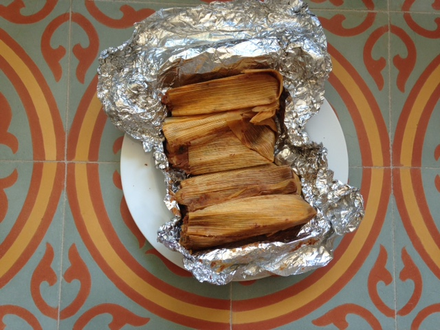 Photo of one dozen tamales unwrapped at Adelita Tamales & Tortilla Factory.