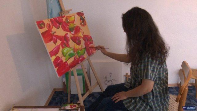 1 7 1024x576 - Mlada umjetnica izlaže u Sanskom Mostu