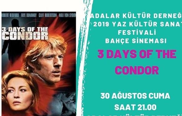 30 Ağustos 2019 CUMA Büyükada'da Sinema