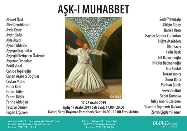 """""""Aşk-ı Muhabbet"""" Sergisi Akyol Sanat'ta açılıyor"""