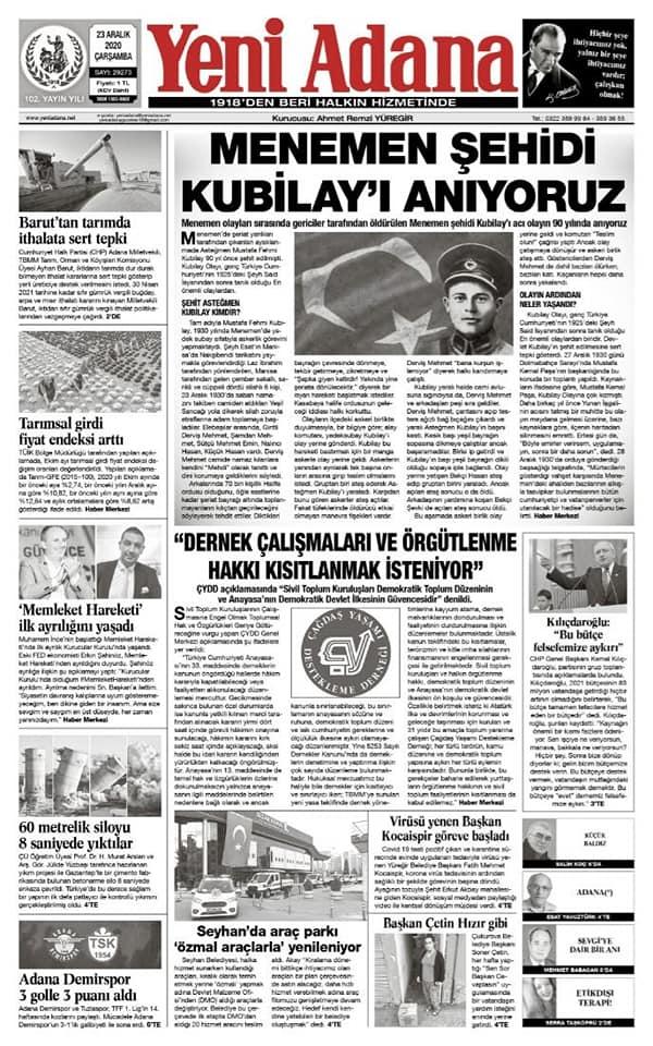 Destan Yaratan Gazete; Yeni Adana