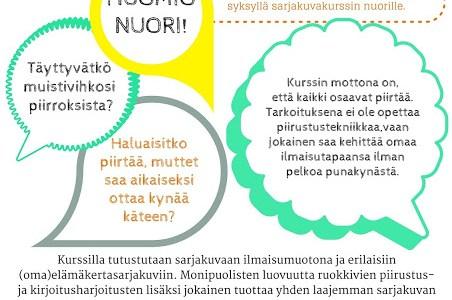 Nuorten sarjakuvakurssi alkaa Jyväskylässä 21.9.2015
