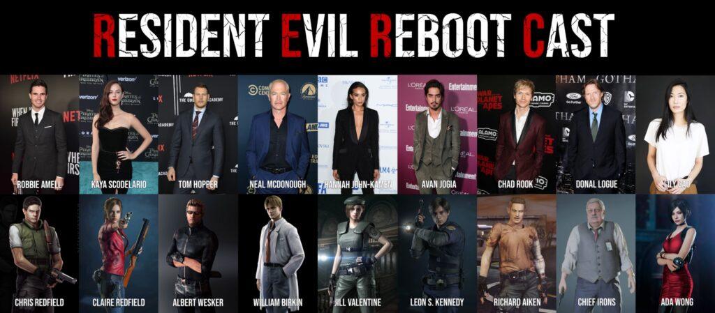 "Elenco oficial do filme ""Resident Evil: Welcome to Raccoon City"""