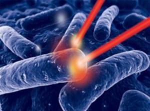 Además de eliminar las células cancerosas directamente, la terapia fotodinámica reduce o destruye los tumores de dos maneras. El fotosensibilizador puede dañar los vasos sanguíneos del tumor, evitando de este modo que el cáncer reciba los nutrientes necesarios. La terapia fotodinámica puede también activar el sistema inmunitario para que ataque a las células cancerosas.