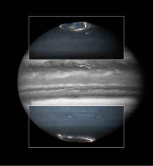 JÚPITER Aurora Boreales Polares 17 de Octubre de 1996 Telescopio Hubble