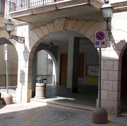 Ingresso del Palazzo Comunale di San Bartolomeo in Galdo