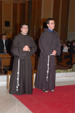 Fra Franco Giovanni Bigotto e Fra Antonio Latella