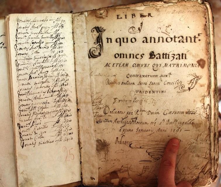 Digitalizzazione archivio parrocchiale