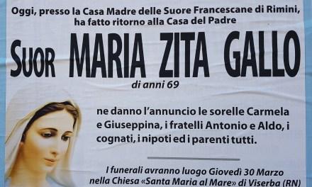 Suor Maria Zita Gallo