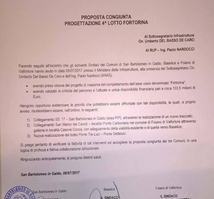 Fortorina, la proposta unitaria dei sindaci