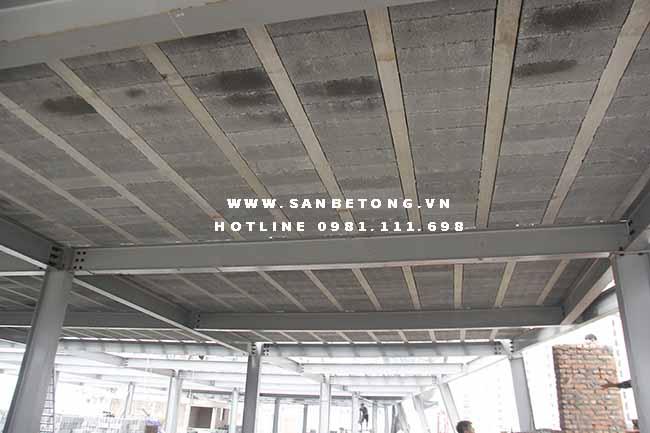 Một công trình xây dựng sử dụng trên 2.000m2 sàn bê tông nhẹ tại Cầu Giấy - Hà Nội