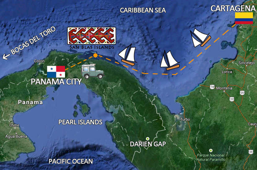 Map San Blas Islands