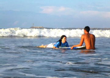SURF LESSON AT BORREGO BEACH