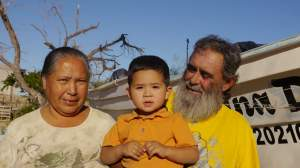 Chalunga his wife & grandson