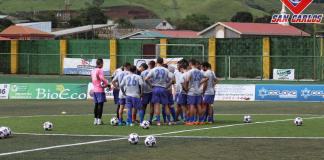 San Carlos en entrenamiento
