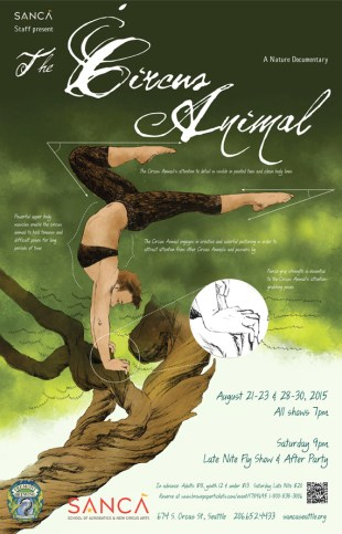 Circus Animal- SANCA Staff show poster