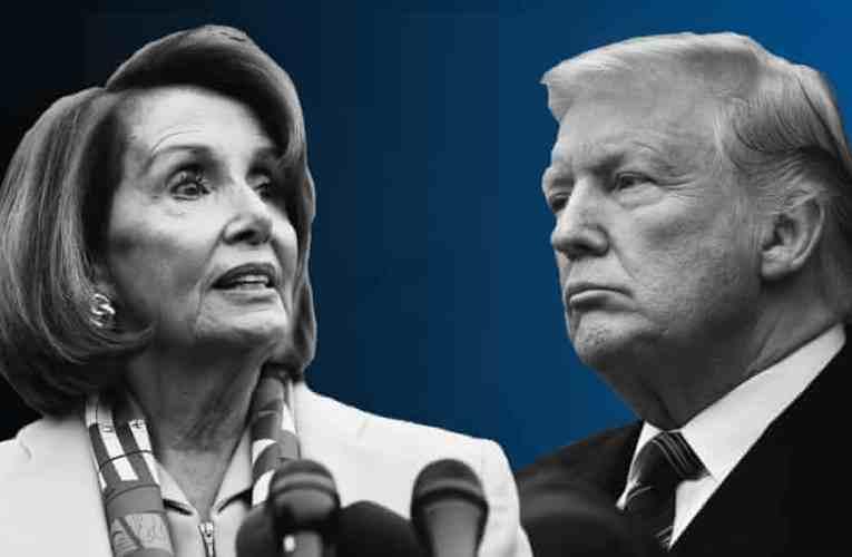 Donald Trump acorrala a Nancy Pelosi.