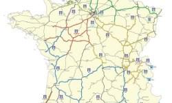 Mapa de autopistas de peaje de Francia