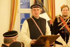 The author gives a speech on Catholic political doctrine at a Commers