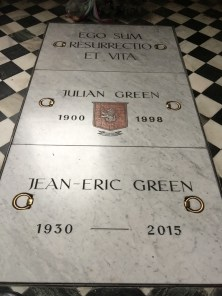 Julian Green's grave in Klagenfurt
