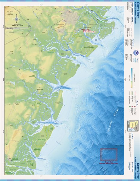 Maps   National Marine Sanctuaries Gray s Reef map