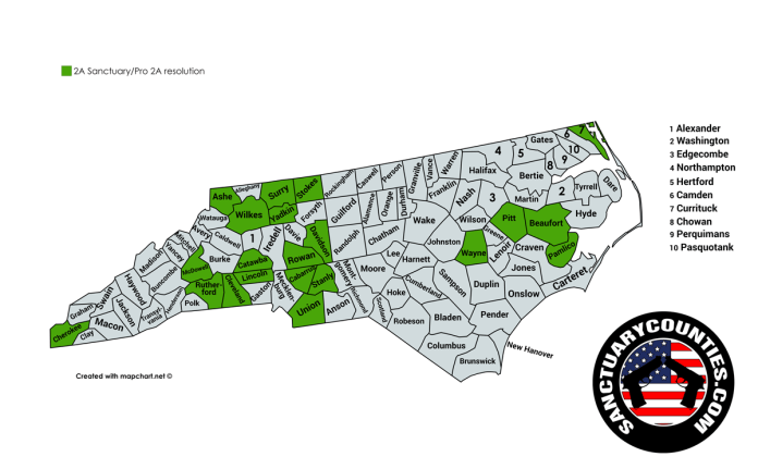 North Carolina Sanctuary Counties