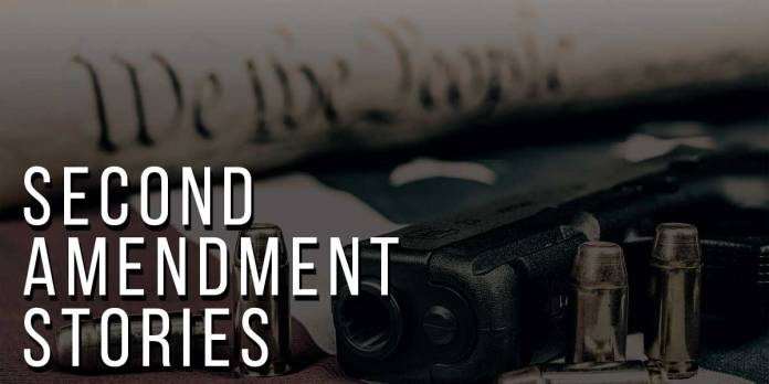 Second Amendment Stories - Picture of a gun, with bullets and the Constitution