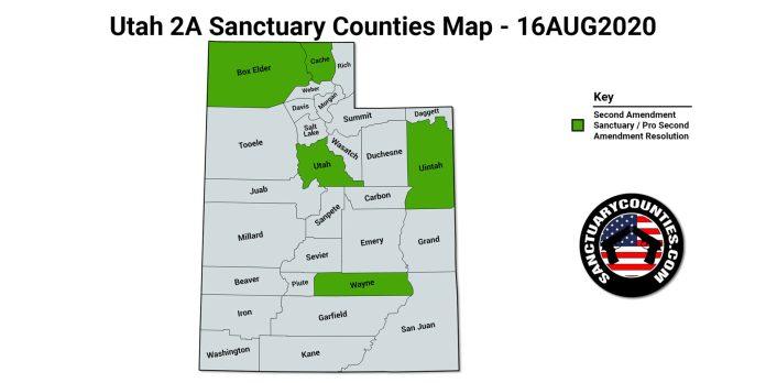 Utah 2A Sanctuary Counties Map