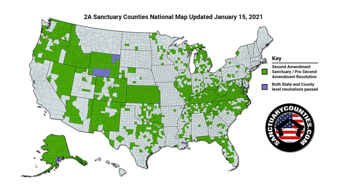 Second Amendment Sanctuary Counties Map
