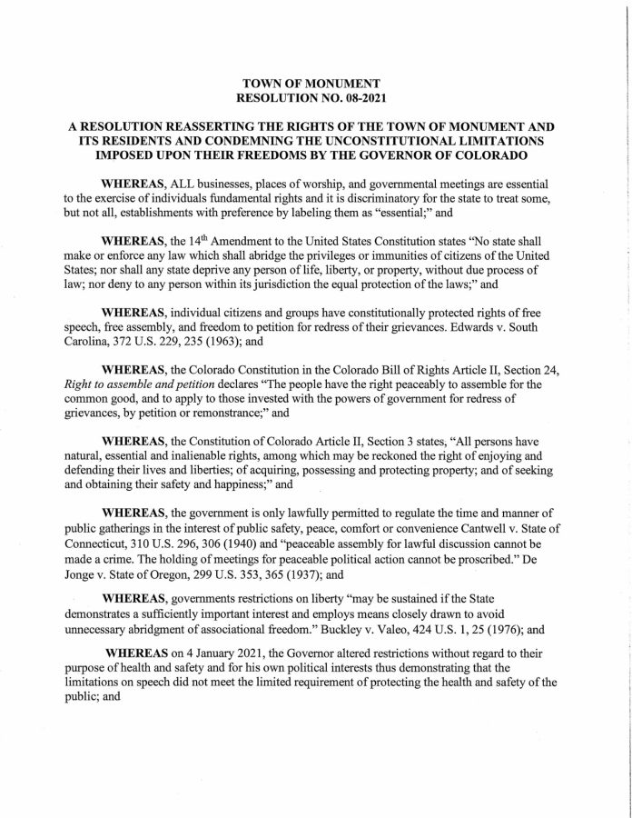 Resolution No. 08-2021 - condemning unconstitutional limitations pg 1